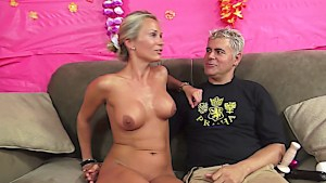 Unleashing Laura's tits, pussy and mouth potential