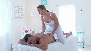 Blair Williams offering a hot massage